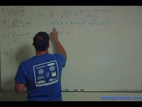 Partial Fractions:  Soup to Nuts Part 3 of 4