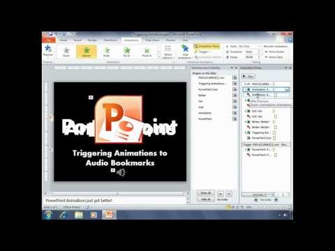 Triggering Animations to Audio Bookmarks in PowerPoint 2010