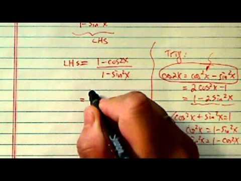 Prove Trig Identity: [1 - cos(2x)] / [1 - sin²x] = 2tan²x ?