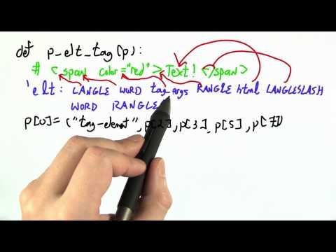 Parsing Tags - CS262 Unit 4 - Udacity