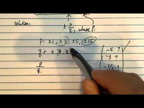 rational root of 3x^3 + 3x^2 - 2x + 15 = 0???