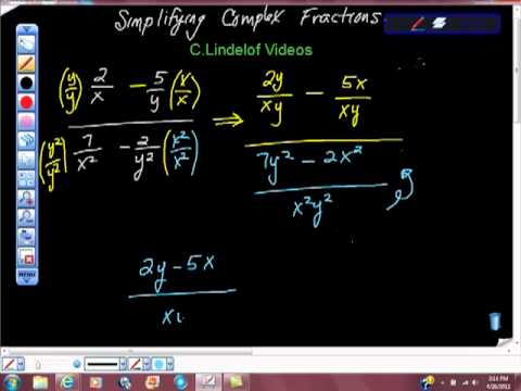 Simplifying ComPlex Fractions 88