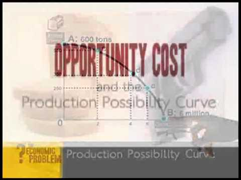 Production possibility curve: Scarcity, inefficiency, choice and opportunity cost