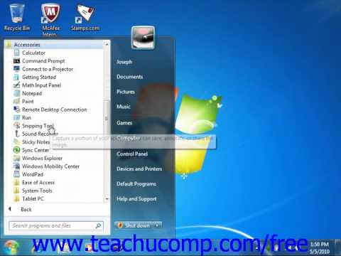 Windows 7 Tutorial Starting a Program Microsoft Training Lesson 1.4