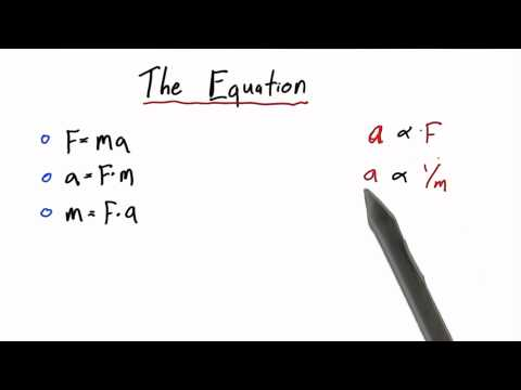 The Equation - Intro to Physics - What causes motion - Udacity