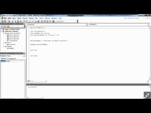 Visual Basic for Excel Tutorial | String and Data Types | InfiniteSkills