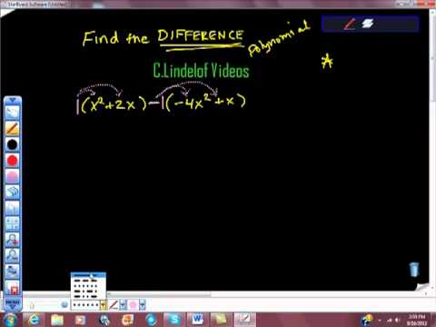 Subtracting Polynomials Find the Difference