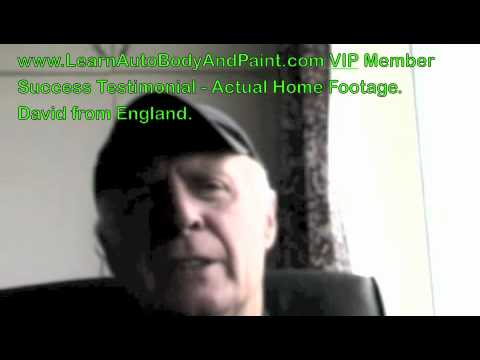 Real Live LearnAutoBodyAndPaint.com VIP Member Testimonial - David from England