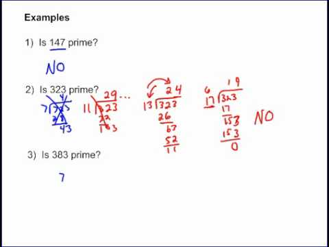 Prime Numbers Part 2 - Example Problems
