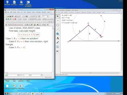 SSA case and law of sines part 1