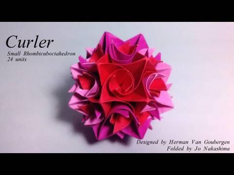 Origami Curler - Small Rhombicuboctahedron (Herman Van Goubergen)