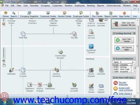 QuickBooks 2011 Tutorial Using Lists Intuit Training Lesson 3.1