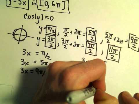 Solving Trigonometric Equations with Coefficients in the Argument - Example 2