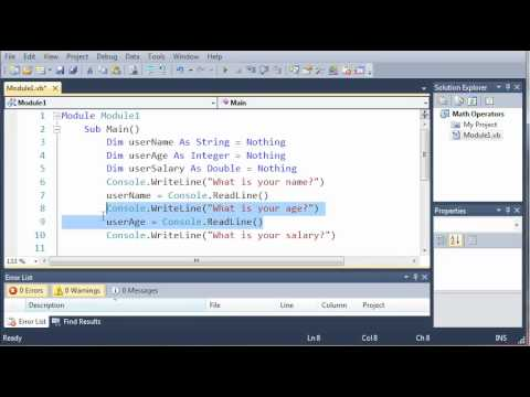 Visual Basic Tutorial - 11 - Getting User Input