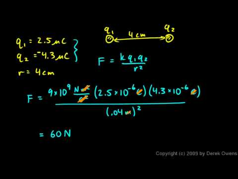 Physics 12.2.1b - Coulomb`s Law - Simple Examples