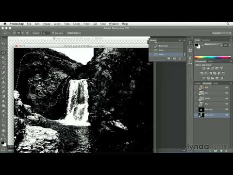 Photoshop tutorial: Adding a waterfall to a digital painting | lynda.com