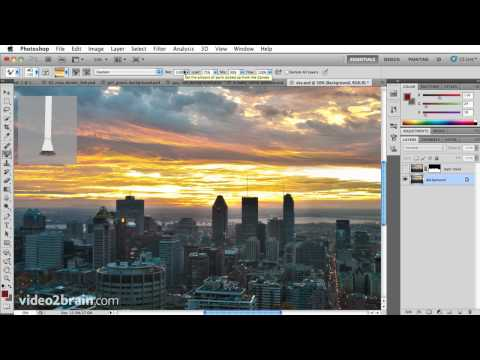 Painting a sunset sky in Photoshop CS5