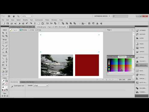 Total Training for Adobe Fireworks CS5 Ch 2 L4 Selecting Colors & Swatches