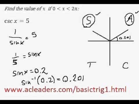 Solving simple trig equation (in radians) - EASY!!!! (pt.4)