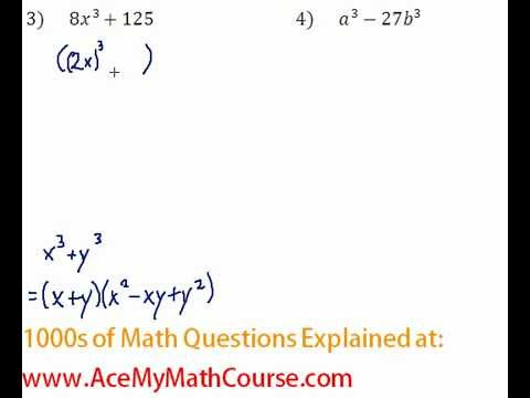 Polynomials - Factoring Two Cubes Question #3