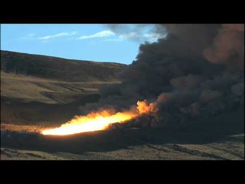 Rocket Motor Fired in Utah Test Stand