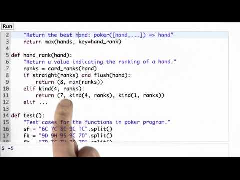 Writing Hand Rank - CS212 Unit 1 - Udacity