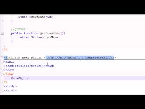 PHP Tutorial - 39 - Setters and Getters