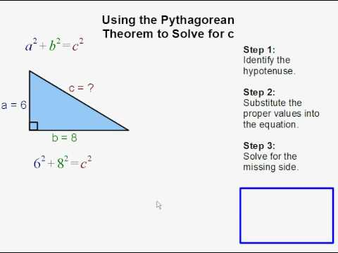 Solving for c using the Pythagorean Theorem