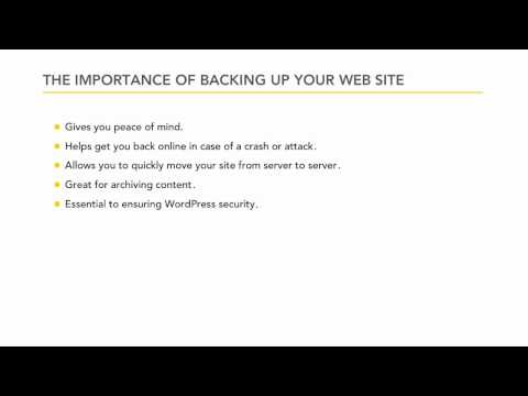 WordPress overview: Backing up your web site | lynda.com