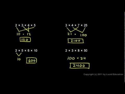 Prealgebra 1.5m - Associative and Commutative Properties