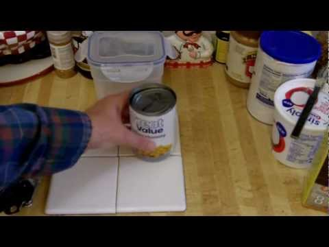 quick unusual food storage cooking tip- DIY can opener marker