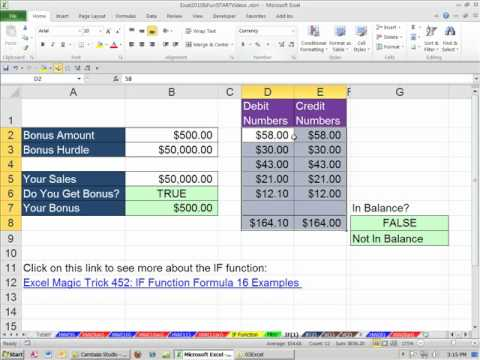 Office 2010 Class #38: Excel IF Function Formula Made Easy (7 examples)