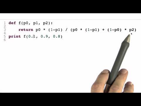 Program Bayes Rule 2 Solution - Intro to Statistics - Programming Bayes Rule - Udacity
