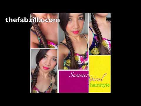 Summer Spiral Hairstyle