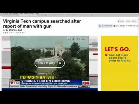 Possible Gunman at Virginia Tech