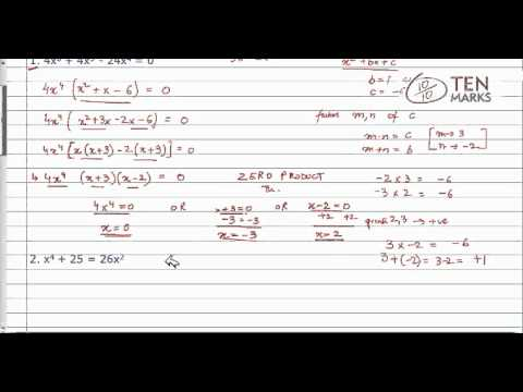 Use Factoring to Solve Polynomial Equations