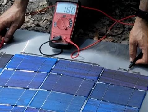 THE SOLAR PHOTOVOLTAIC $1 a watt  DIY Solar Panel Part 2 Make your own solar panel series Bus Wire