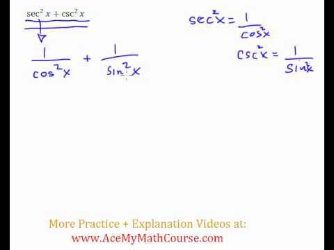 Trig Identity - Practice Question #6