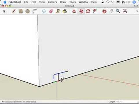 SketchUp: Making Stairs: The Copied Profile method