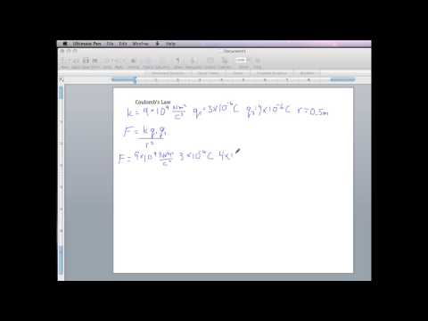 PHYS 1550 Coulomb's Law Using a Scientific or Graphing Calculator
