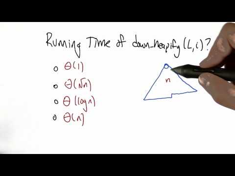 Running Time of down heapify - Algorithms - Statistics - Udacity