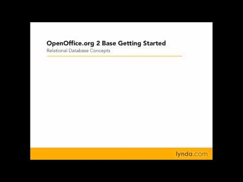 OpenOffice: Database concepts and terminology | lynda.com
