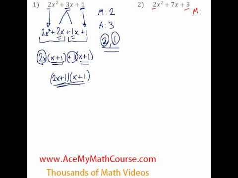 Polynomials - Factoring Trinomials (More Challenging) #1-2