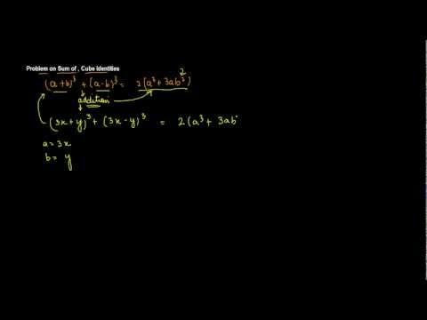 Problem on Sum of , Cube Identities