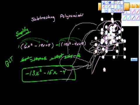 subtracting polynomials algebra