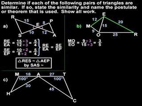Proving Triangles are Similar - YourTeacher.com - Geometry Help