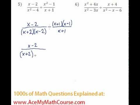 Rationals - Multiplying & Dividing Rationals Question #5