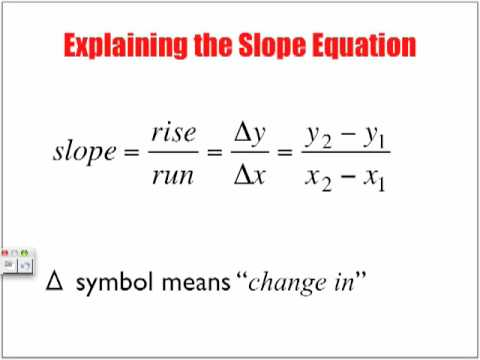 What is Slope: Rate of Change
