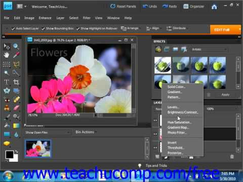 Photoshop Elements 9.0 Tutorial Layer Types Adobe Training Lesson 10.2