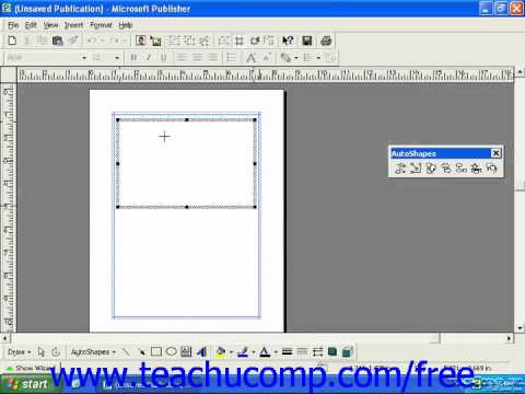 Publisher 2003 Tutorial Drawing Freeform Object 2000 Microsoft Training Lesson 5.6